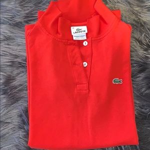 Size 42 Red Lacoste Polo